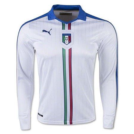 Camisa oficial Puma seleção da Itália 2015 2016 II jogador manga comprida
