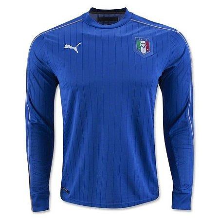 Camisa oficial Puma seleção da Itália 2015 2016 I jogador manga comprida