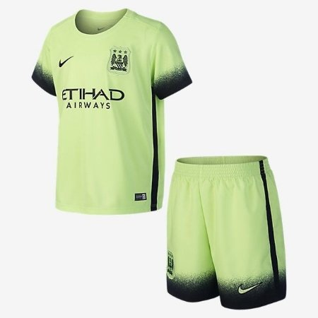 Kit oficial infantil Nike Manchester City 2015 2016 III jogador