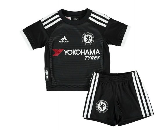 Kit infantil oficial adidas Chelsea 2015 2016 III jogador