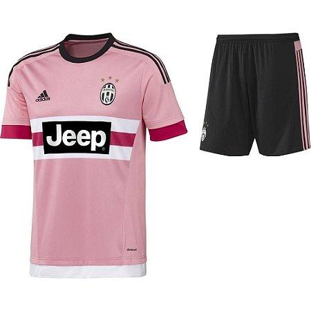 Kit infantil oficial Adidas Juventus 2015 2016 II jogador