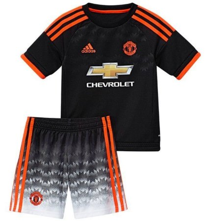 Kit infantil oficial adidas Manchester United 2015 2016 III jogador