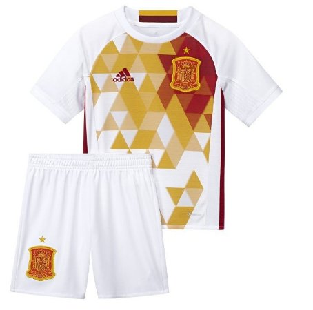 Kit infantil oficial adidas seleção da Espanha Euro 2016 II jogador