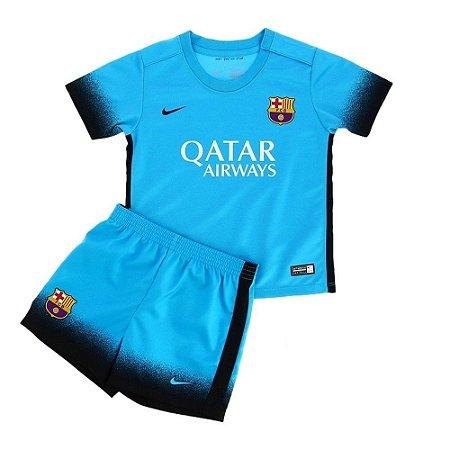 Kit oficial infantil Nike Barcelona 2015 2016 III jogador