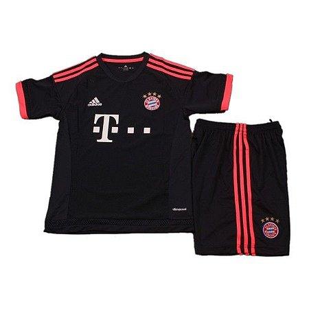 Kit infantil oficial adidas Bayern de Munique 2015 2016 III jogador