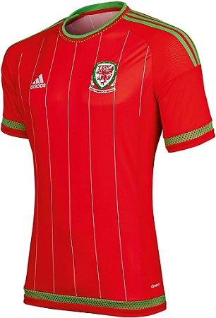 Camisa oficial Adidas seleção do País de Gales Euro 2016 I jogador