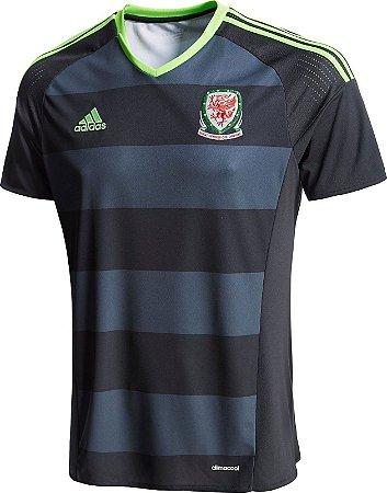 Camisa oficial Adidas seleção do País de Gales Euro 2016 II jogador