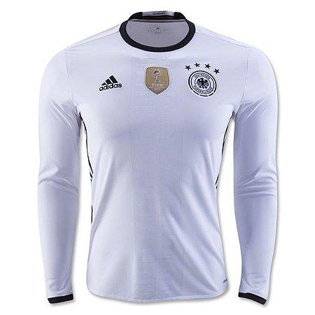 8a0d480876 Camisa oficial adidas seleção da Alemanha Euro 2016 I jogador manga comprida