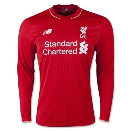 Camisa oficial New Balance Liverpool 2015 2016 I jogador Manga comprida