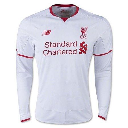 Camisa oficial New Balance Liverpool 2015 2016 II jogador Manga comprida
