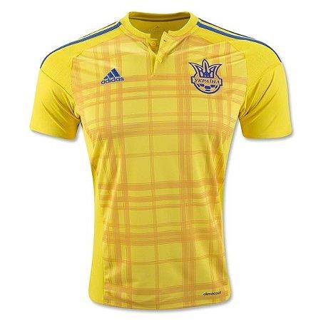 Camisa oficial Adidas seleção da Ucrania Euro 2016 I jogador