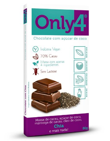 Tablete ONLY4 sabor CHIA 80g