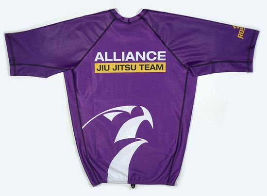 RASH GUARD ALLIANCE ROXA MANGA CURTA