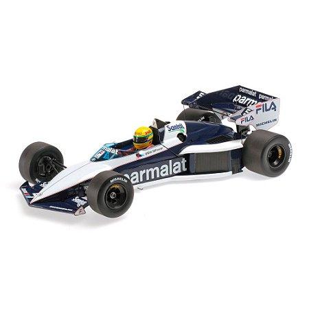 Brabham BMW BT52B Ayrton Senna Teste Paul Ricard em 14 de Novembro 1983 1/18 Minichamps