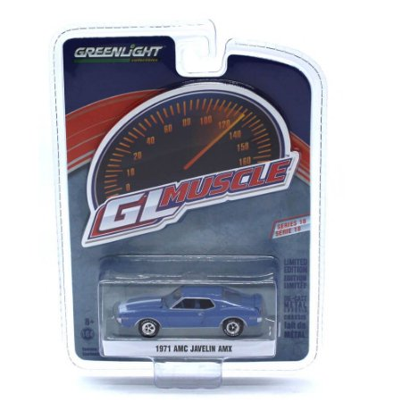 AMC Javelin AMX 1971 GL Muscle Serie 18 1/64 Greenlight
