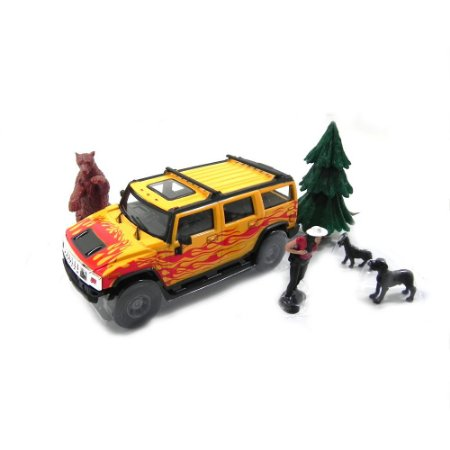 Diorama Hummer Adventure Series 1/43 Cararama