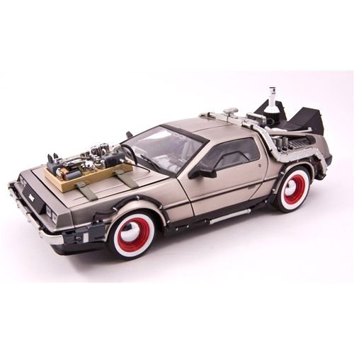 Delorean Time Machine De Volta Para o Futuro 3 1/18 Sun Star