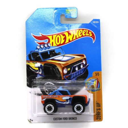 Custom Ford Bronco 1/64 Hot Wheels Surfs Up