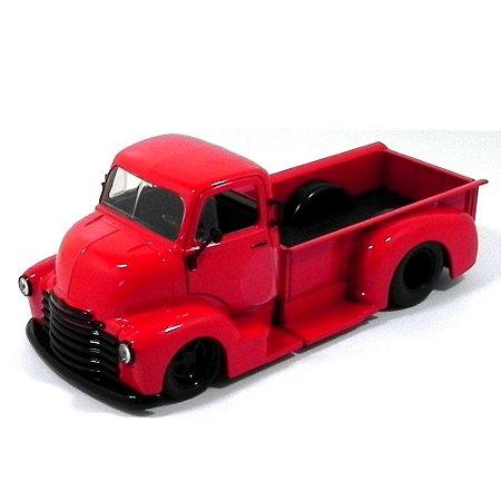Chevrolet Coe Pickup 1952 Vermelho 1/24 Jada Toys Just Trucks