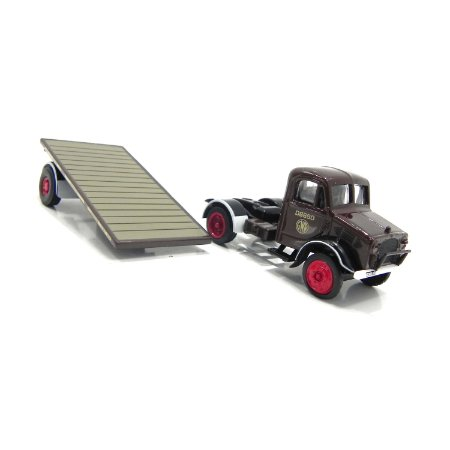Caminhão Gwr Bedford Ox Flatbed Trailer 1/76 Oxford