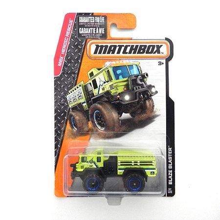 Caminhão Blaze Blaster Mbx Heroic Rescue 1/64 Matchbox