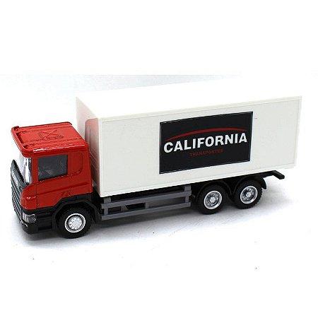 Caminhão Bau Scania P Series 1/64 California Junior Truck