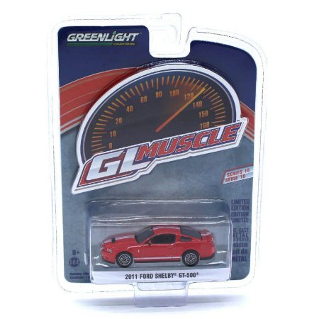 Ford Shelby GT500 2011 GL Muscle Serie 18 1/64 Greenlight