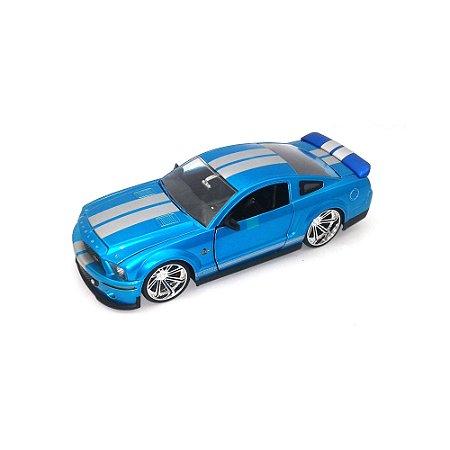 Ford Shelby GT 500KR 2008 Azul 1/24 Jada Toys