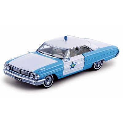 Ford Galaxie 500 Polícia 1964 1/18 Sun Star