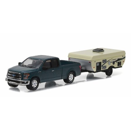 Ford F150 e Trailer 1/64 Greenlight