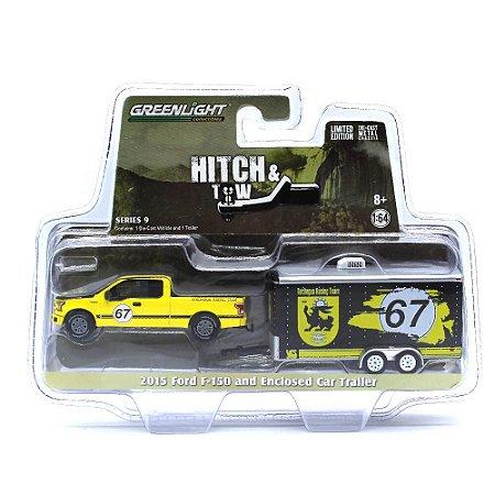 Ford F150 2015 e Trailer Hitch & Tow Serie 9 1/64 Greenlight