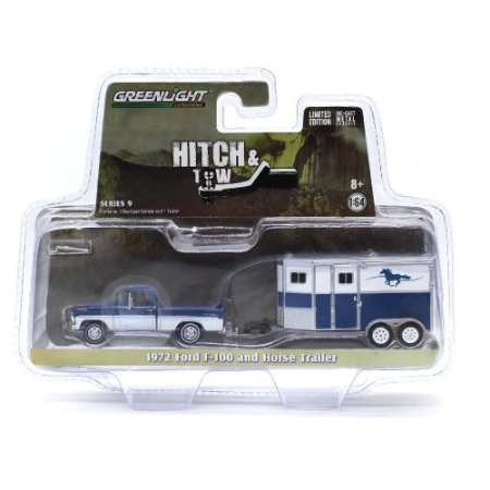 Ford F100 1972 Com Trailer Hitch & Tow 1/64 Greenlight