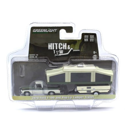 Ford F100 1970 Com Trailer de Campo 1/64 Greenlight