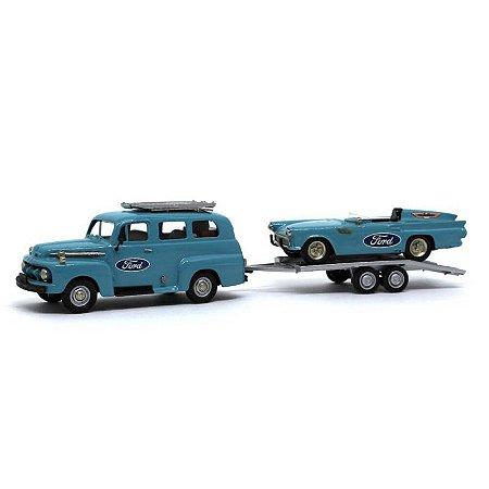 Ford F1 Ranger 1952 e Ford Thunderbird 1957 1/43 Brooklin