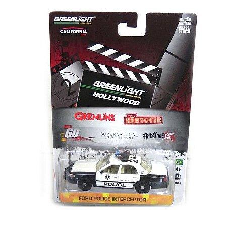 Ford Crown V Police I Se Beber Não Case 1/64 Greenlight Série 7