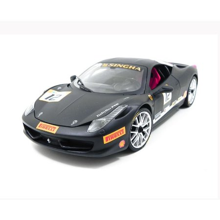 Ferrari 458 Challenge Matt Black 1/18 Hot Wheels