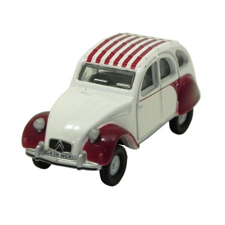 Dolly Red White Citroen 2CV 1/76 Oxford