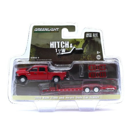 Dodge Ram 2500 2016 Trailer Hitch & Tow Serie 9 1/64 Greenlight