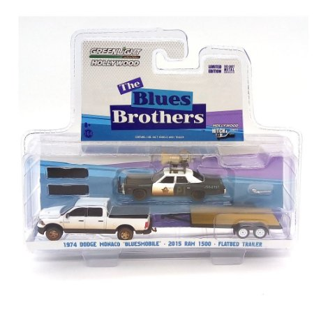 Dodge Monaco Blues e Dodge Ram The Blue Brothers 1/64 Greenlight