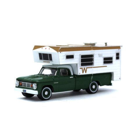 Dodge D100 1967 Winnebago Acampamento 1/64 Greenlight