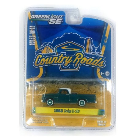 Dodge D-100 Country Roads Série 14 1963 1/64 Greenlight