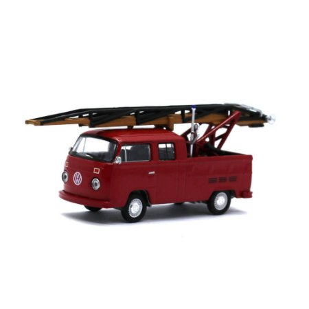 Volkswagen Kombi Type 2 Cabine Dupla Ladder Truck 1/64 Greenlight California Collectibles 64