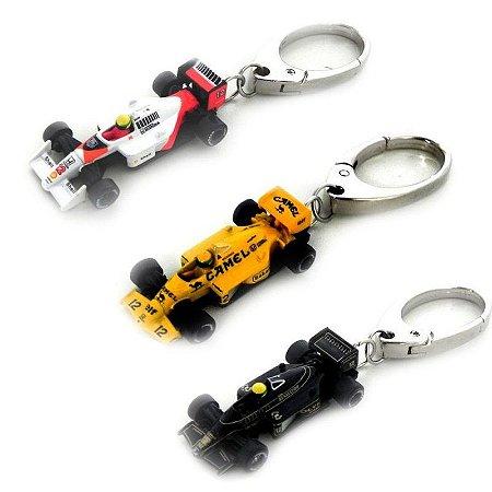 Kit Chaveiro Senna Lotus Amarela Preta Mclaren 1/72 Premiumx