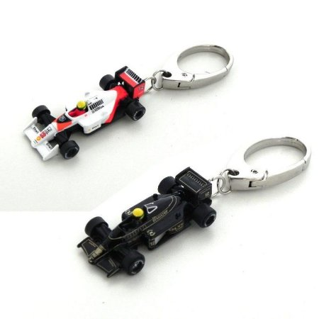 Kit Chaveiro Ayrton Senna Mclaren + Lotus Preta 1/72 Premiumx