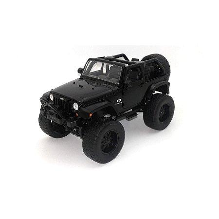 Jeep Wrangler 2007 Preto 1/24 Jada Toys