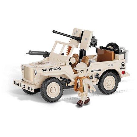 Jeep Willys MB North Africa 1943 Blocos de Montar 90 Peças Cobi