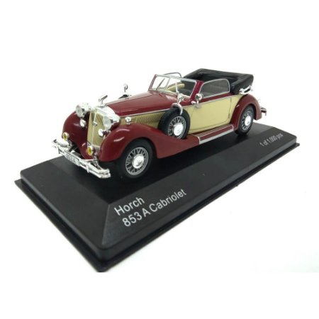 Horch 853A Cabriolet Bege/Marrom 1938 1/43 Whitebox
