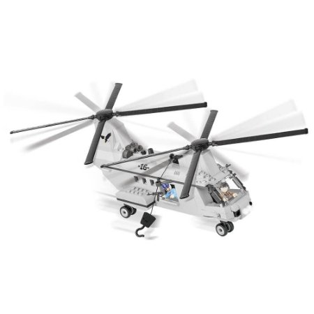 Heavy Transport Helicóptero Blocos de Montar 310 Peças Cobi