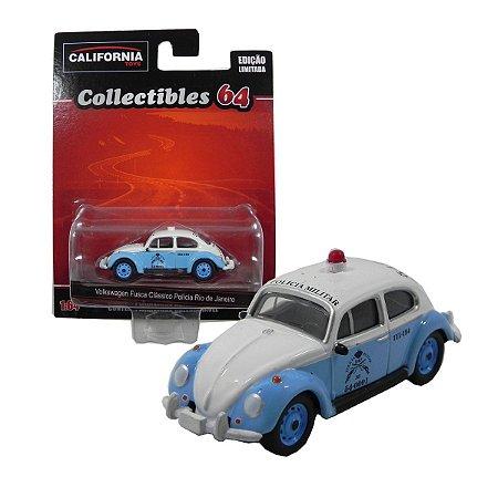Volkswagen Fusca Polícia Rio de Janeiro 1/64 California Collectibles