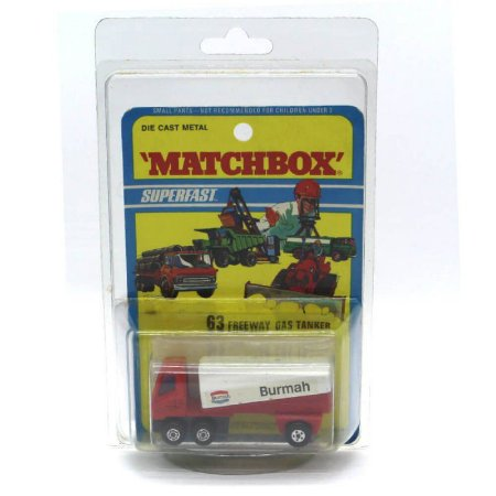 Freeway Gas Tanker Burmah Superfast N 63 1/64 Matchbox